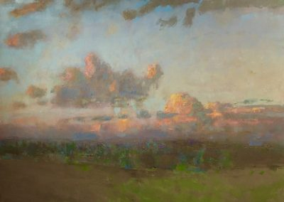 August Clouds, Sundown